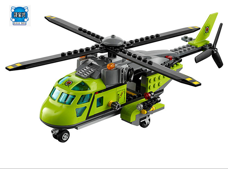 Model Building Blocks Kits Compatible with Lepins City 02004 Helicopter Volcanic Expedition Brick Figures Toys 60123 model building blocks kits compatible with lego city 60123 lepin 02004 helicopter volcanic expedition brick model building toys