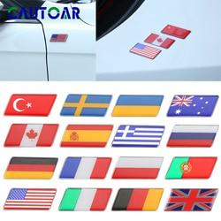 Adesivo de bandeira epóxi 3d para motocicleta, decalque de tanque, para estilizar carro, espanha, rússia, frança, suécia, itália e alemanha/ucrânia acessórios decorativos