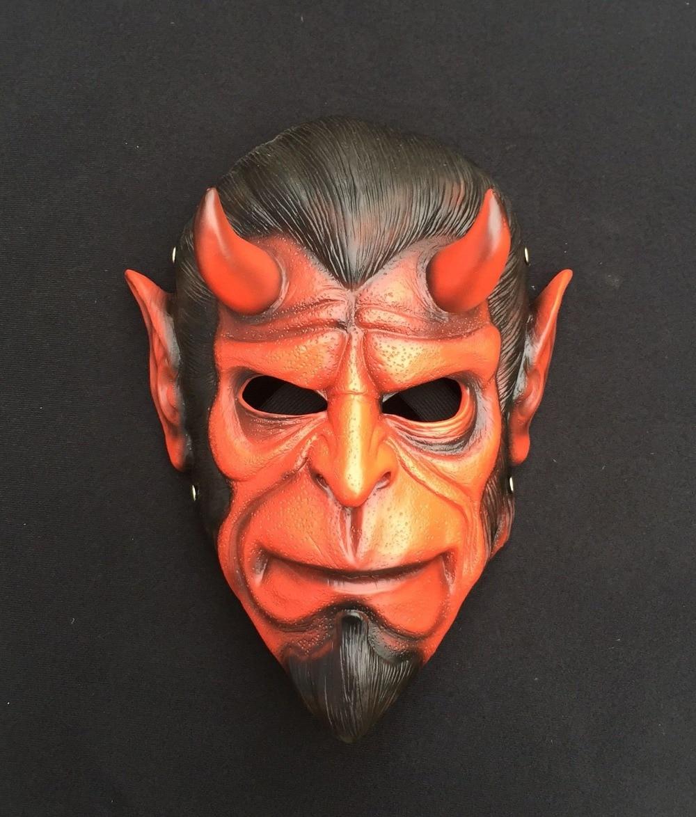KAWEIDA High Quality Hellboy Masks Resin Horror Movie Cosplay Halloween Masquerade Ball Grimace Demon Masks