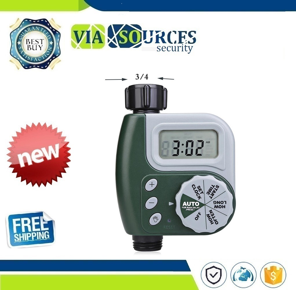 Garden Watering Timer  Automatic Electronic Water Timer Home Garden Irrigation Timer Controller System Autoplay Irrigator