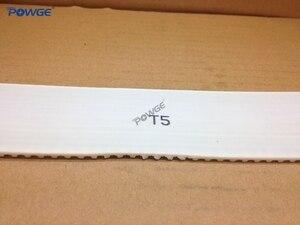 Image 5 - POWGE 5 metrów T5 otwarty pas synchroniczny szerokość 16mm stal poliuretanowa Trapezoid PU T5 16mm otwarte paski rozrządu koło pasowe drukarki 3D