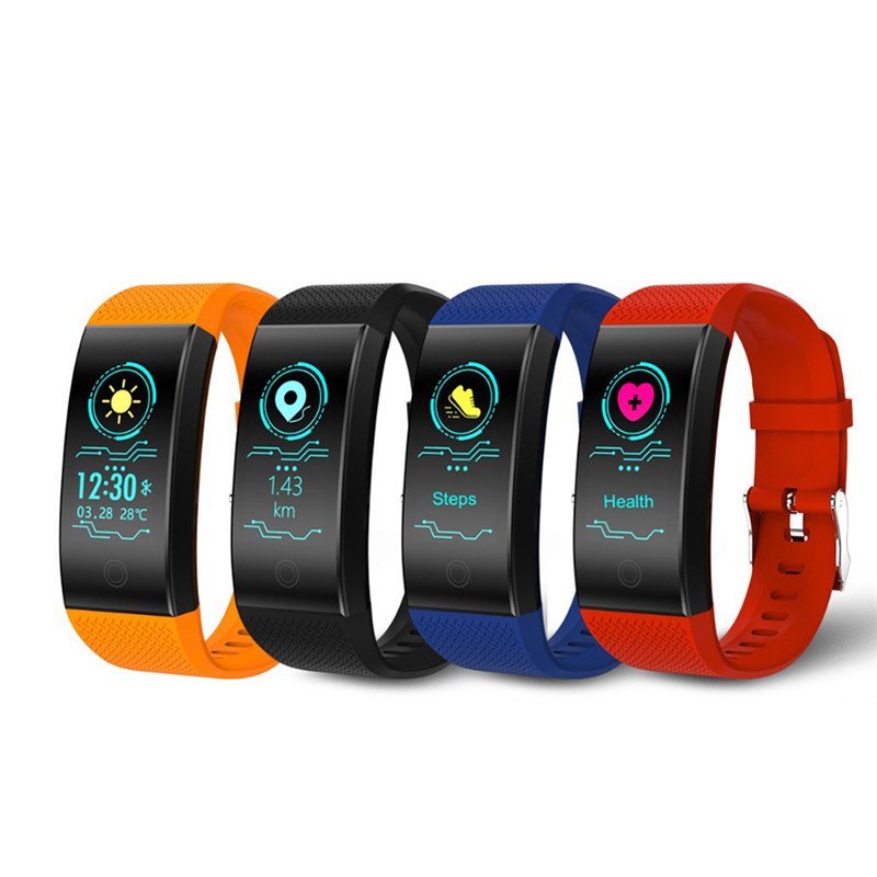 Fashion Luxury Fitness Watch Smart Watch Sports Four Colors Heart Rate Pedometer Waterproof Watch Top Brand Clock For Best Gifts