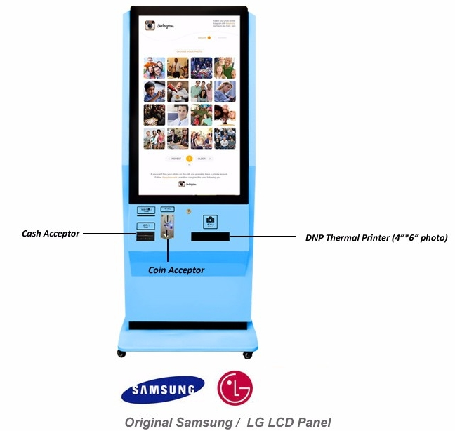 42 Inch 46 Inch Shopping Mall,Lobby Digital PHOTO Kiosk Printing Kiosk With Printer