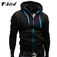 T Bird 2017 New Fashion Hoodies Brand Men Zipper Sweatshirt Male Hoody Hip Hop Autumn Winter