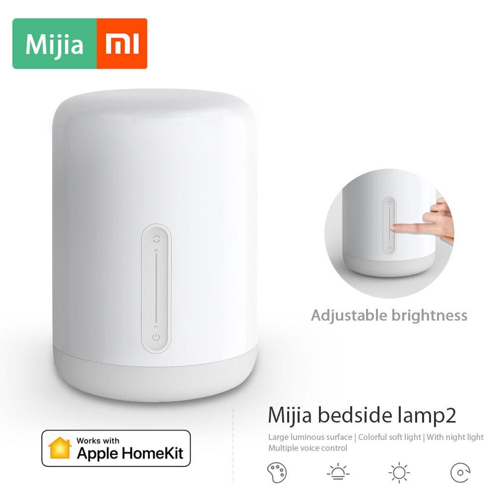 Xiao mi mi jia lampe de chevet 2 mi Smart Phare Intérieur lumière de lit Couleurs Changeantes Sans Fil APP Contrôle Fonctionne avec Apple homeKit
