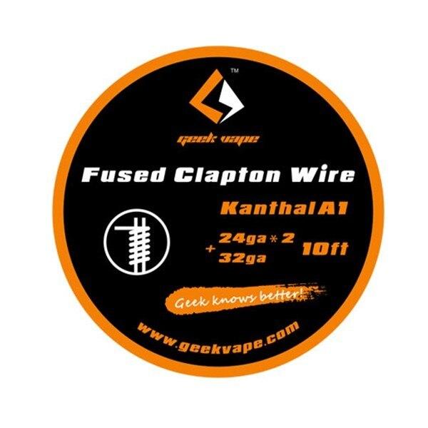 D'origine Geekvape Fusionné Clapton fil (24ga * 2 + 32ga * 3 m) haute qualité DIY bobine vaporisateur pour cigarette électronique atomiseur RDTA RTA RDA