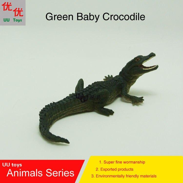 Hot toys  verde crocodilo do bebê modelo de simulação de animais crianças  crianças brinquedos educativos adereços d0f58391d7