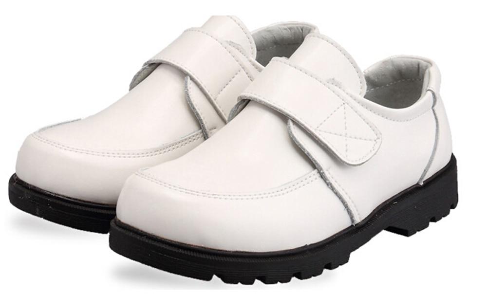 Діти офіційні взуття шкільні туфлі весілля продуктивність чорний білий дію шкіряні туфлі великих хлопчиків дітей якість для всіх сезонів