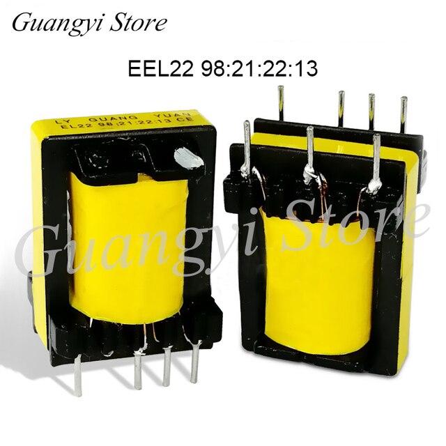 5 adet EEl22 98: 21: 22: 13 Tüm bakır Yardımcı yüksek frekanslı transformatör için inverter kaynak makinası