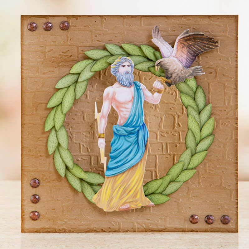 Roman Numerals Zeus Athena Greece Landscape Metal Cutting Dies For DIY Scrarpbooking Embossing Paper Cards Making Craft New 2019 in Cutting Dies from Home Garden