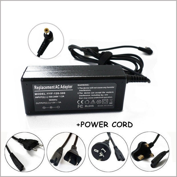 yan AC Adapter Charger Power Cord Supply for Acer Monitor H236HL S230HL S231HL
