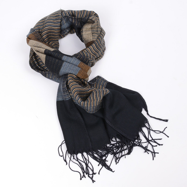 free ship 2015 double fine striped Scarves men winter new brand Fashion Plaid Scarf for Men cozy warm long scarf cotton Tassel