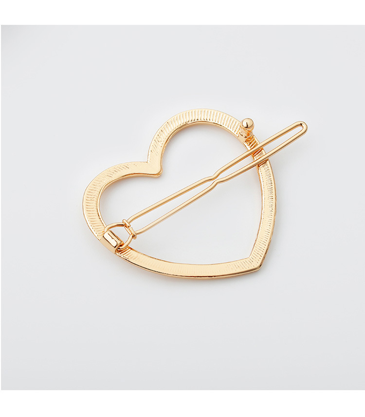 Elegant Gold or Silver Heart Shaped Women's Hairpins