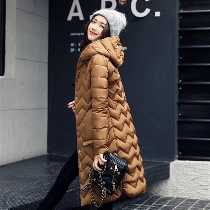 2017 Winter Outwear Female Parkas Jacket Coat Women Long Cotton Down Parkas Lady Slim Hooded Parkas Jacket Plus size компас silva compass 54 6400 6400 360