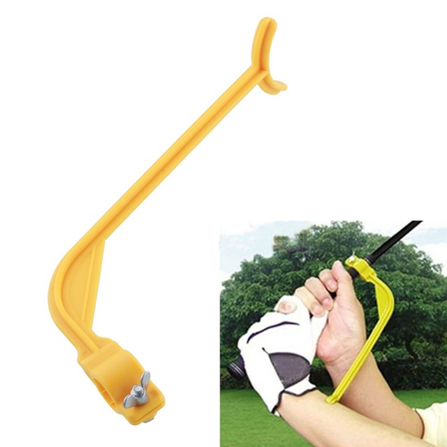 Golf Swing Trainer Guide Lowest price Beginner Alignment Golf Clubs Gesture Correct Wrist Training Aids Tools Golf Accessories
