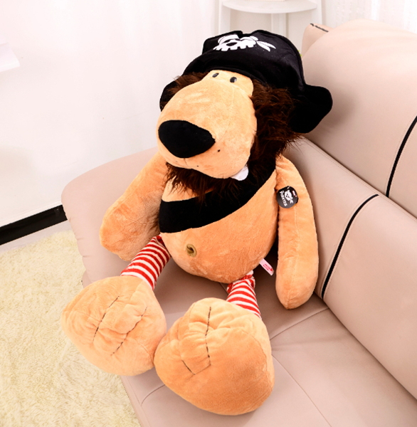 ФОТО stuffed toy 64cm lovely pirate lion plush toy ,birthday  gift t6628