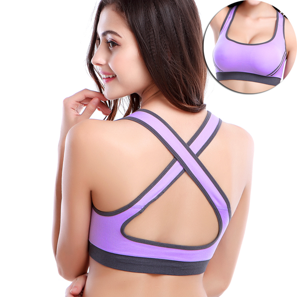fa15435dd09 Charming Dream Girls Padded Push up Sports Bra Moving Comfort Workout Yoga  Top Seamless Fitness Workout Yoga Bra 10 Color-in Sports Bras from Sports  ...