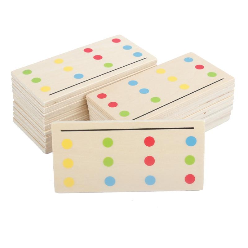 Montessori Education Jouets en bois Jeu de quatre couleurs - Concepteurs et jouets de construction - Photo 3