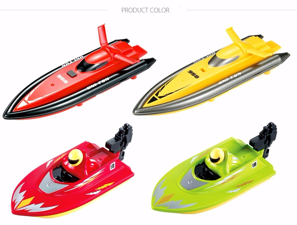 RC Boat Outdoor Children Toys Radio Control RC 2 Channels Waterproof Mini Electric Boats (5)