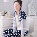 Home Leisure clothes Fall Winter warm long sleeve women pajamas flannel pyjamas lovely 90S sleepwear women set maternity M-XXL