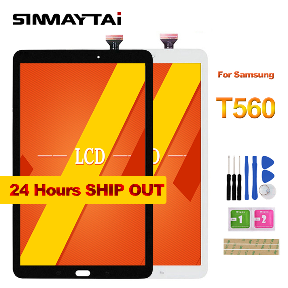 все цены на Sinmaytai For Samsung Galaxy Tab E 9.6 SM-T560 T560 SM-T561 LCD Display Touch Screen Digitizer Assembly Replacement онлайн
