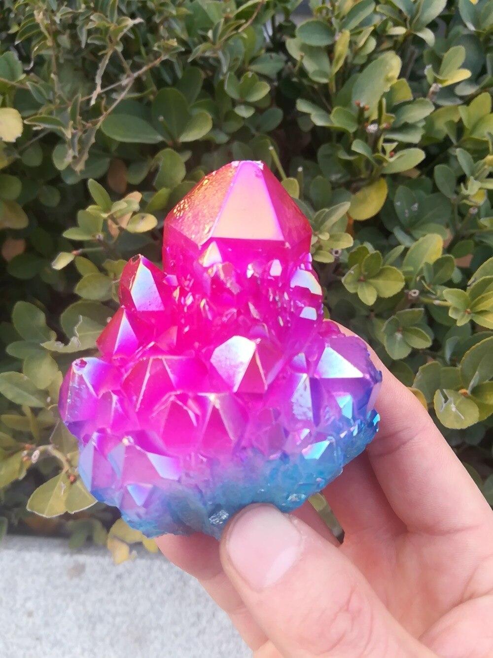 RARO! Nova Descoberta Beatiful two-tone Natural De Cristal De Quartzo Cluster Specimen 1 PC