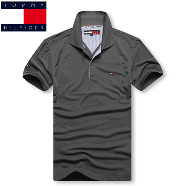 92aa8716 TOMMY HILFIGER Men's Polo Shirt Men Short Sleeve Shirt Sports polo Jerseys  Golftennis Plus Size S - 3XL Camisa Polos Homme 2019