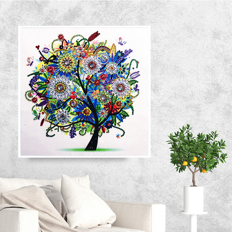 RUBOS DIY 5D Diamond Embroidery Colorful Tree Butterfly Bead Diamond Painting Cross Stitch Pearl Crystal Sale Hobby Gift Decor (15)