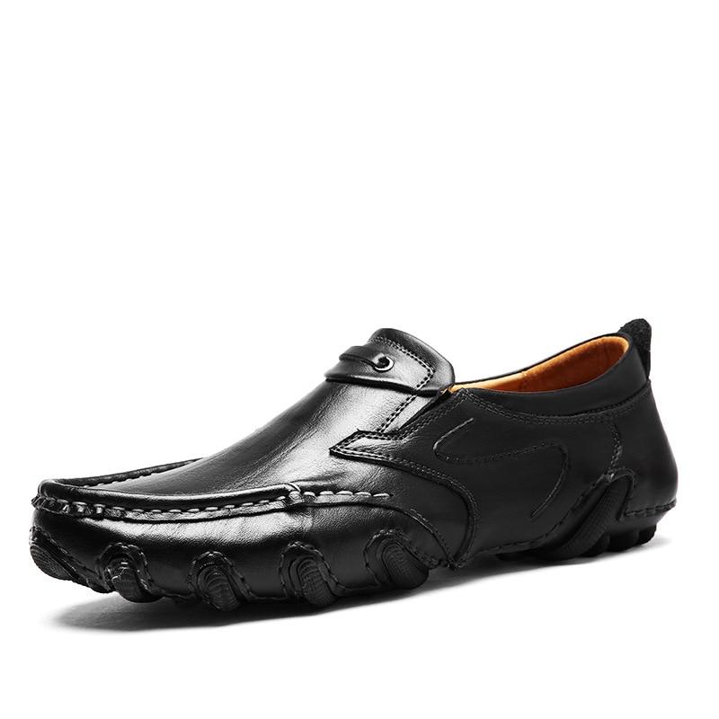 44 Black Paresseux Pois Casual Brown Black De Backcamel Hommes À L usure  Résistant Khaki D affaires 02 Nouveau Conduite 02 Brown En Taille Chaussures  ... f8a7742b9ba2