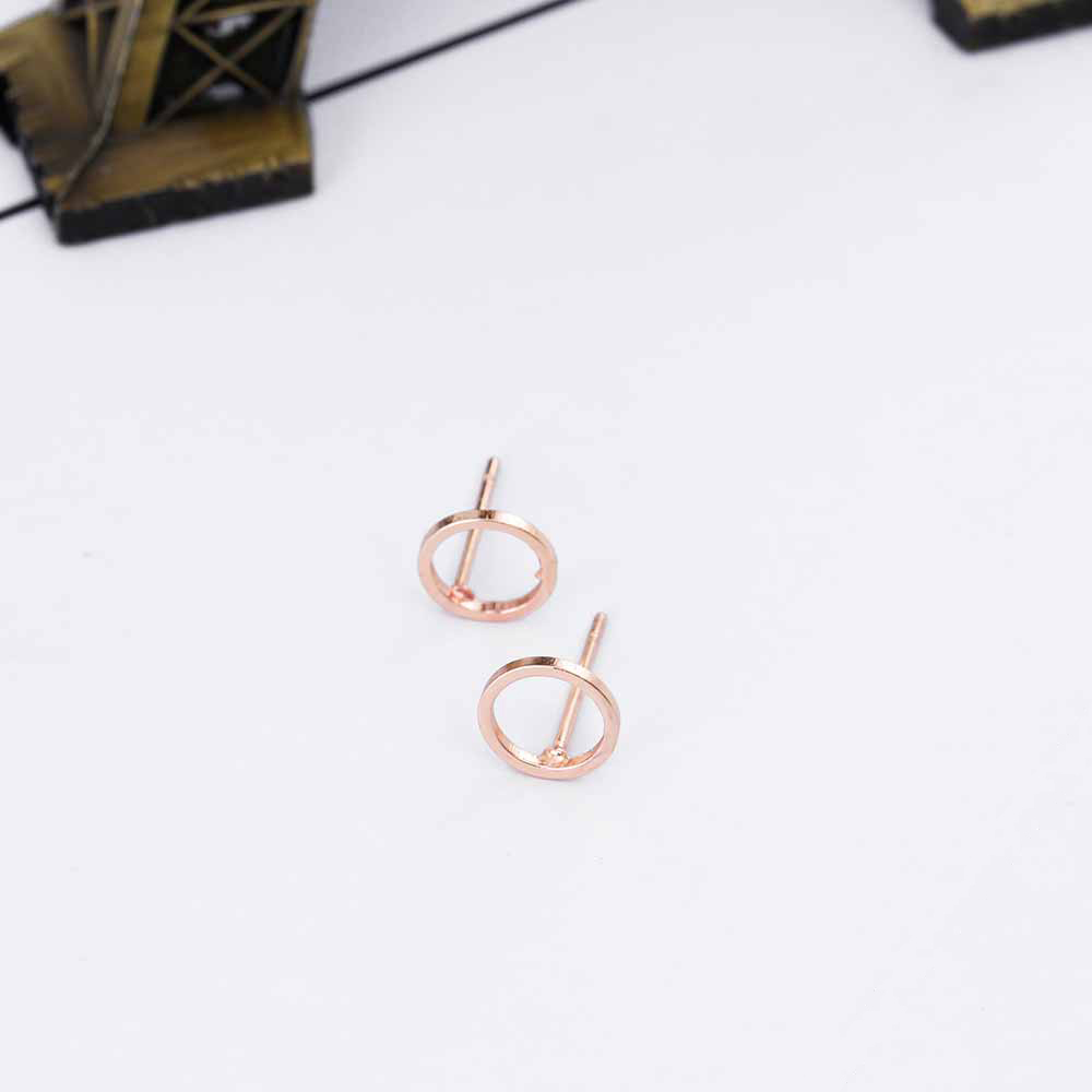 Fashion Minimalist Jewelry Gold Sliver Punk Geometric Round Circle Stud Earrings for Women Small Earrings Brincos Ear Jewelry 8