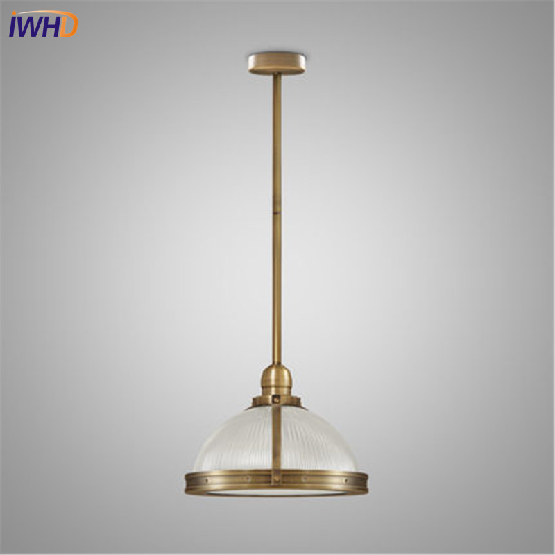 IWHD Loft Style Iron Glass Edison Pendant Light Fixtures Vintage Industrial Lighting For Dining Room Indoor Hanging Lamp retro loft style iron glass edison pendant light for dining room hanging lamp vintage industrial lighting lamparas colgantes