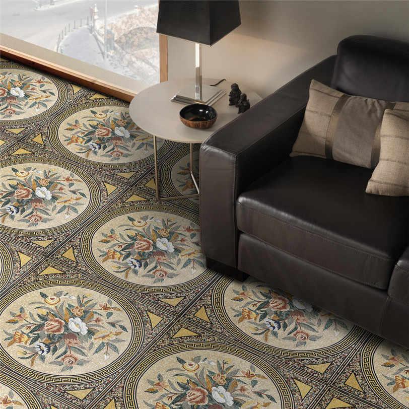 3d mozaika geometryczne płytki podłoga naklejki nowoczesny Design naklejka samoprzylepna do salonu Kichen łazienka Home Decoration 0528 #