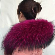 Горячая Распродажа, натуральный мех, зима, мех енота, настоящий воротник и женские шарфы, модное пальто, свитер, шарфы, воротник, роскошная шейка, 70 см