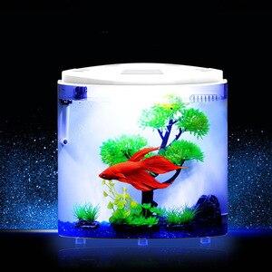 5L Fish Tank Aquariums USB LED