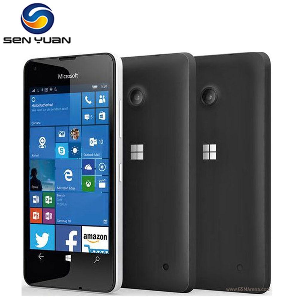 Цена за Оригинальный microsoft lumia 550 разблокирована сотовый телефон 8mp камера quad core 8 ГБ rom 1 ГБ ram wifi gps 4 г телефон