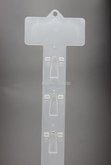 L 620mm 500 stücke Kunststoff Klar PP Einzelhandel Hängen Merchandising Clip Streifen 12 haken Produkte Display-in Halter & Gestelle aus Heim und Garten bei  Gruppe 1
