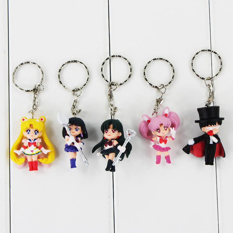 5pcs/lot Anime Sailor Moon Mars Jupiter Venus Mercury Keychains Action Figures Toys Kawaii Pendants free shipping main board for brother mfc j6710dw mfc j6710 j6710dw j6710 formatter board mainboard on sale