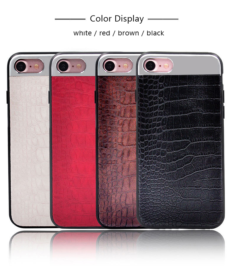 Kasatin Corrodie Pattern Leather Back Cover for iPhone 6 (7)