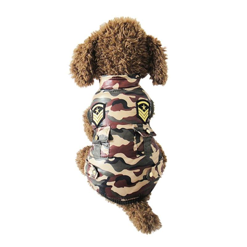 New hot sale dog winter clothes warm vest Camouflage Windbreaker Pet clothing coat for puppy Small Medium dogs L40