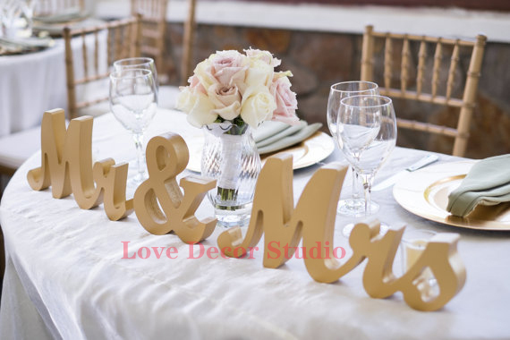 wedding mr mrs sign letter sweetheart table sign decoration mr and ...