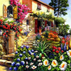 Garden Bungalow 84 Cross Stitch Diamond Painting Kit 50x40cm Room Decoration Square Drill Diamond Embroidery Pictures