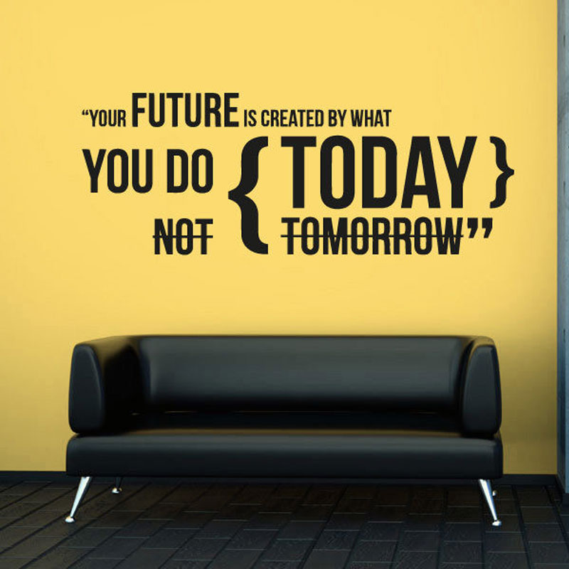 Wall Decal Vinyl Plane Sticker Sign Your future What you do today Office Decor Quotes Design Removable Self adhesive Mural A348