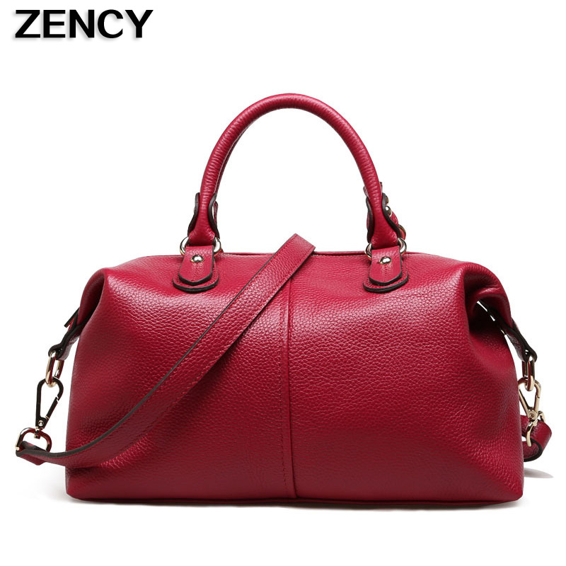 ZENCY Genuine Leather Small Women Tote Bags Famous Brand Luxury Ladies Real Leather Female Handbags Messenger Bag Hobo Satchel real genuine leather women single shoulder bag small cross body satchel ladies messenger bags famous brand cowhide tote handbag