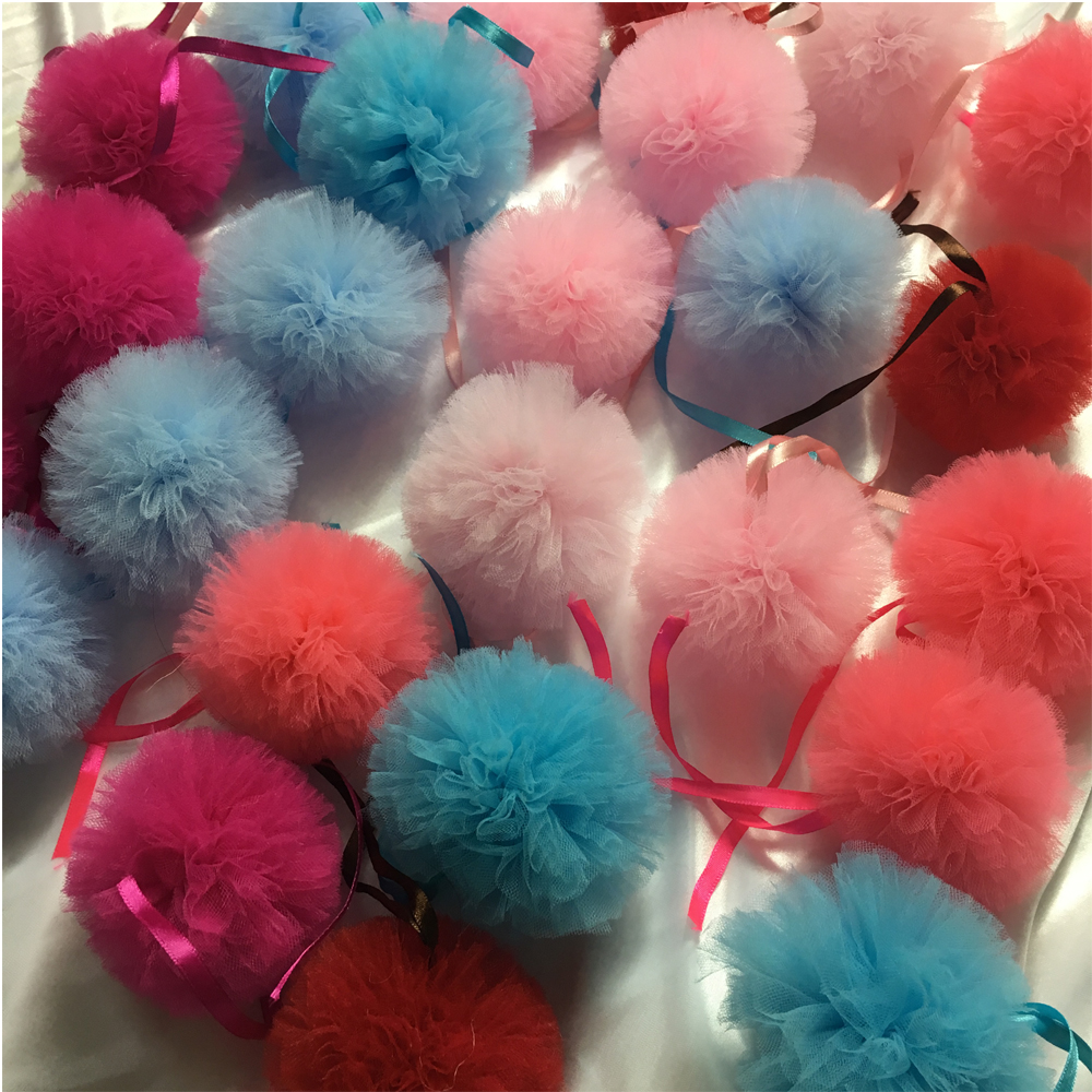 100pcs Customized Color And Size Tulle Pom Napkin Rings For Wedding ...