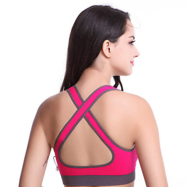 c1ee4503c191c placeholder Hot !Woman yoga fitness bra Tank for girls running gym Jogging  Racerback wire free Sports