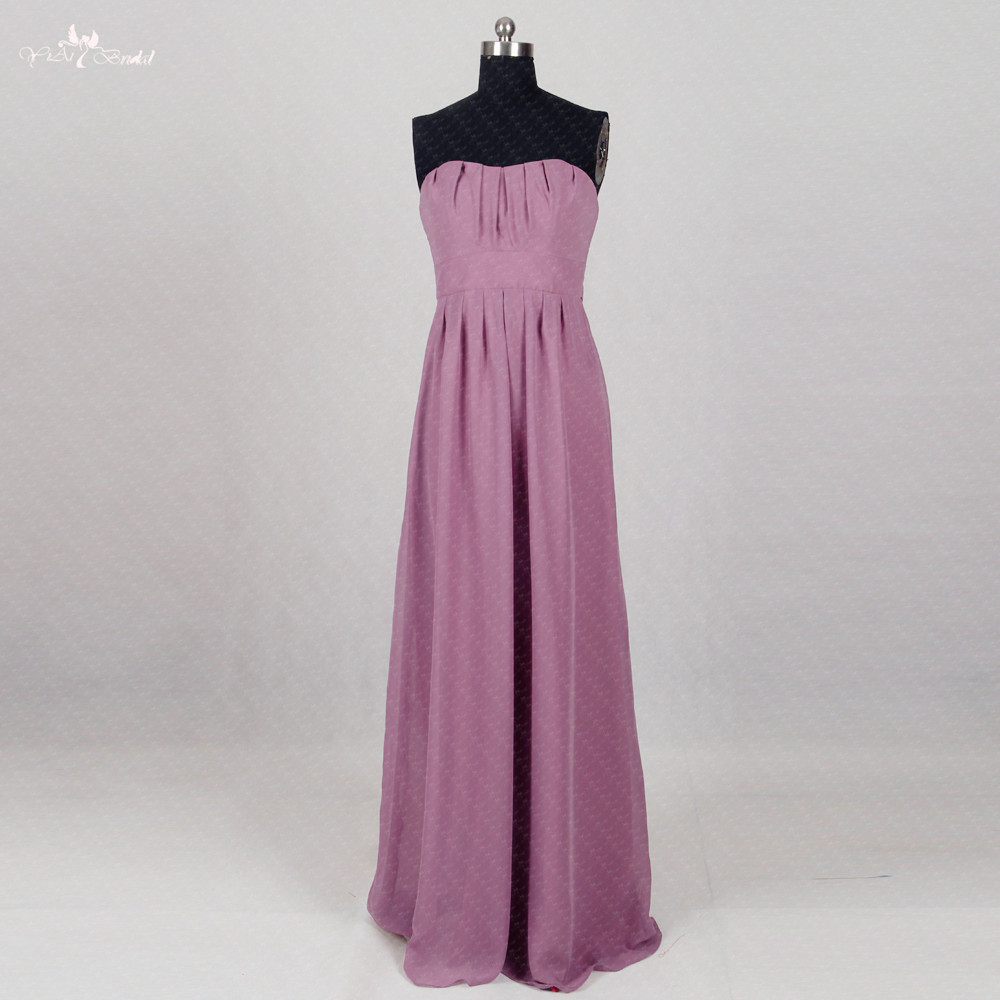 Affordable Wedding Guest Dresses: RSE291 Cheap Wedding Guest Dress Long Chiffon Purple