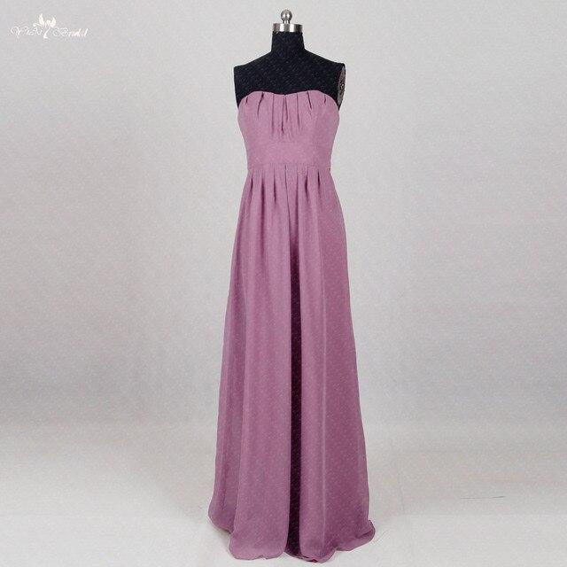 Rse291 Wedding Guest Dress Long Chiffon Purple Bridesmaid Dresses