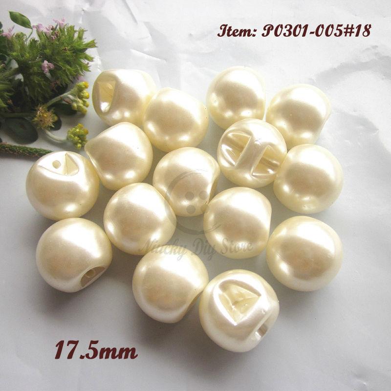 439ace5f5133 50 unids 18mm Peal color imitación perla botones gran perla botones  decorativos costura accesorios decorativos de la joyería al por mayor