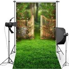 Gramado Do Jardim Floral Cenários de Fotografia Vinil pano de Fundo Para O Casamento Novo Tecido de Flanela para Crianças photo studio F807