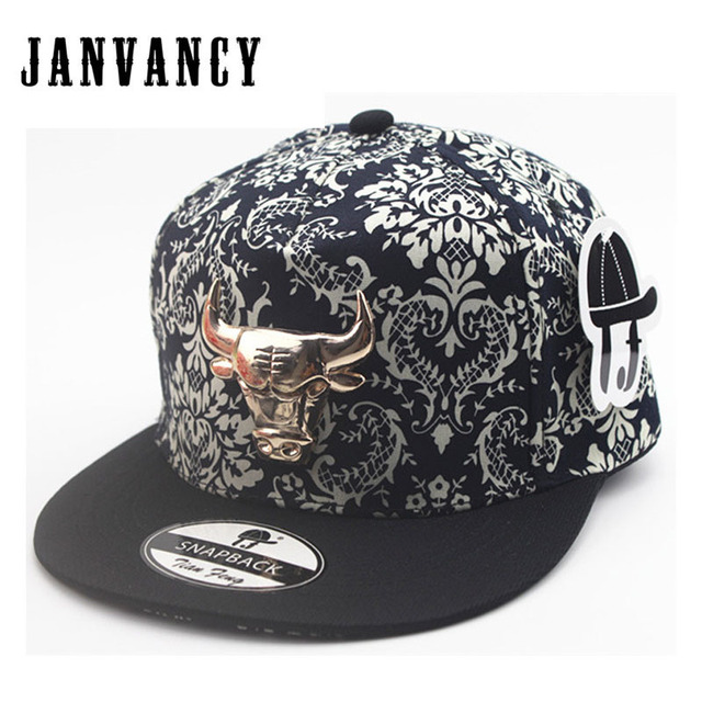 06f25362ff20c Janvancy Steampunk Baseball Caps Men Women Hip Hop Flat Bone Snapback Bull  Steam Punk Cap Black